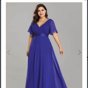 Sapphire Evening Gown (size 16)